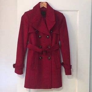 Wine red winter jacket (Valentine's Day)